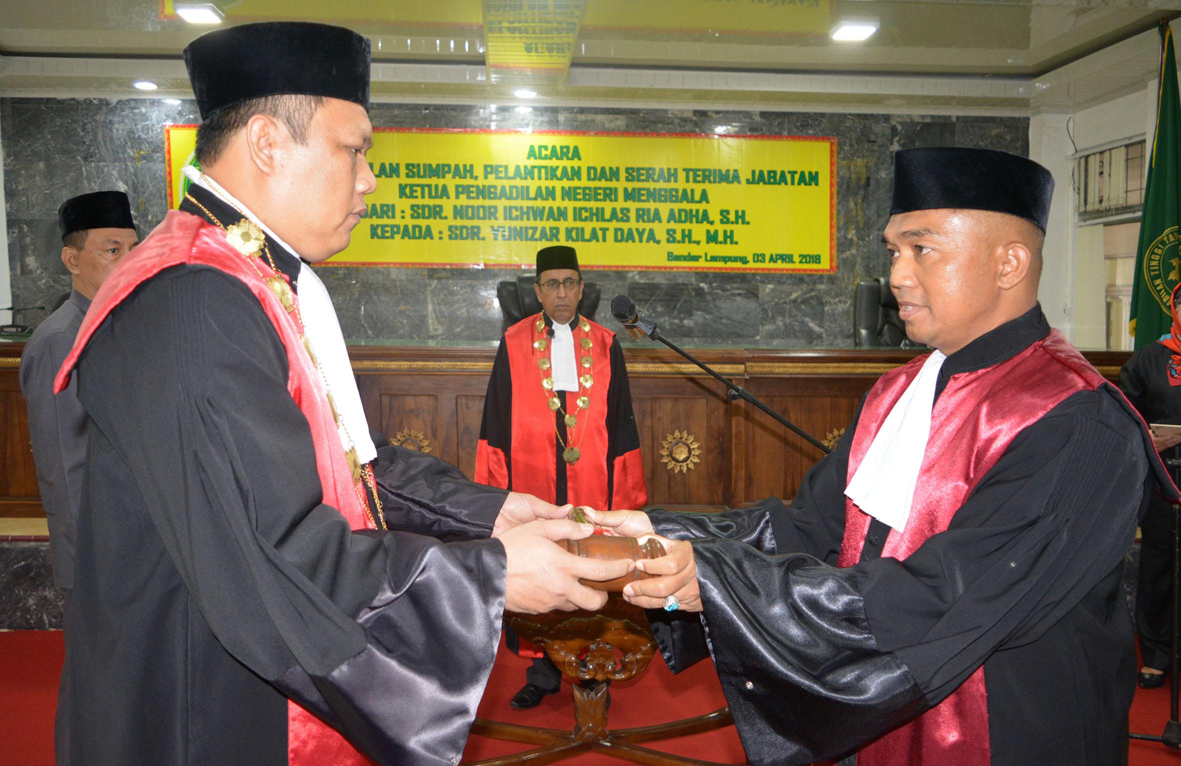Pengambilan Sumpah, Pelantikan, dan Serah Terima Jabatan Ketua Pengadilan Negeri Menggala