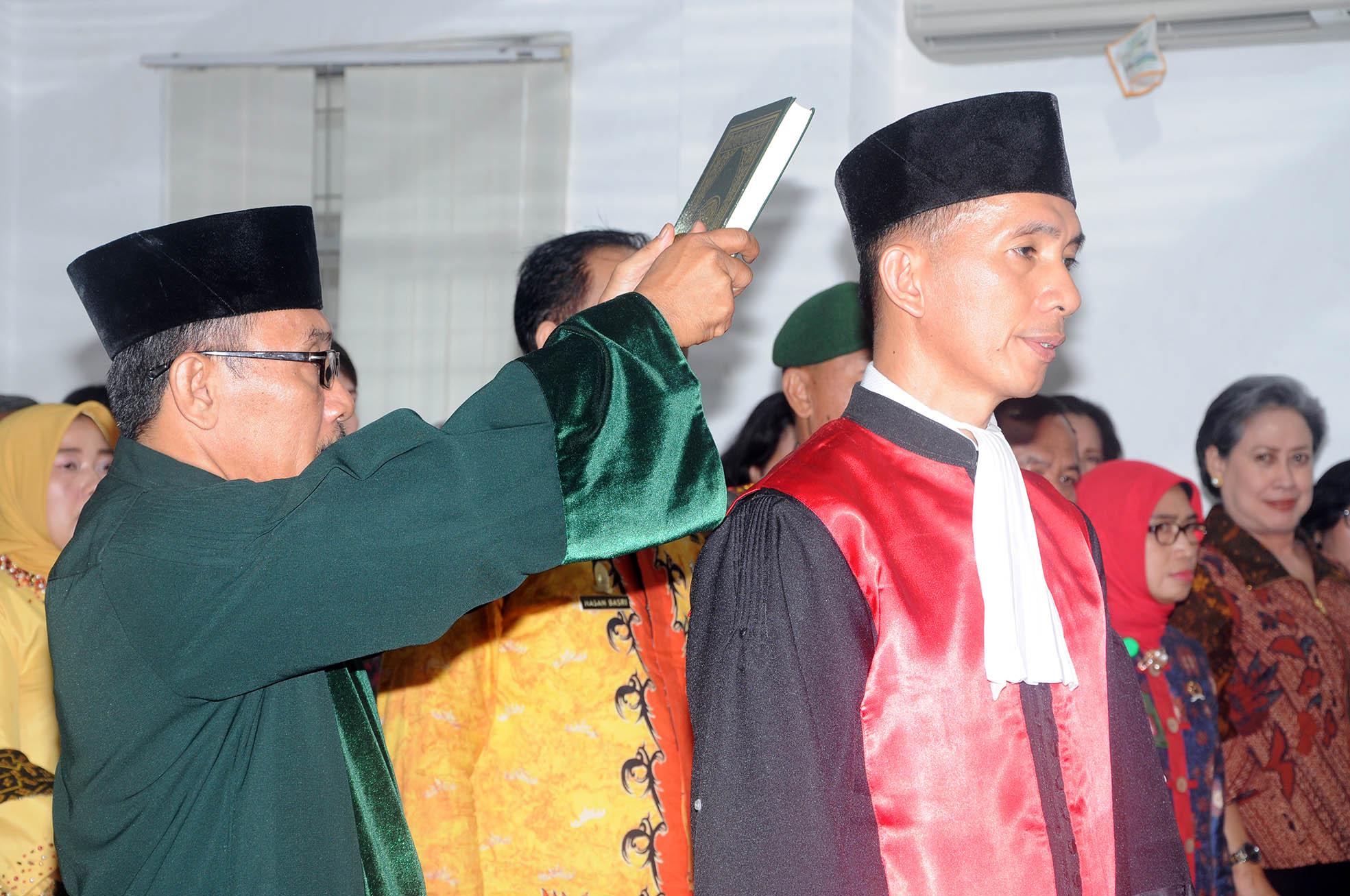 Pengambilan Sumpah, Pelantikan, dan Serah Terima Jabatan Ketua Pengadilan Negeri Gunung Sugih